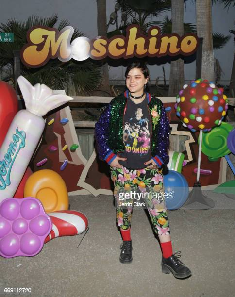 Soko attends the Moschino Candy Crush Desert Party hosted by Jeremy Scott on April 15 2017 in Coachella California