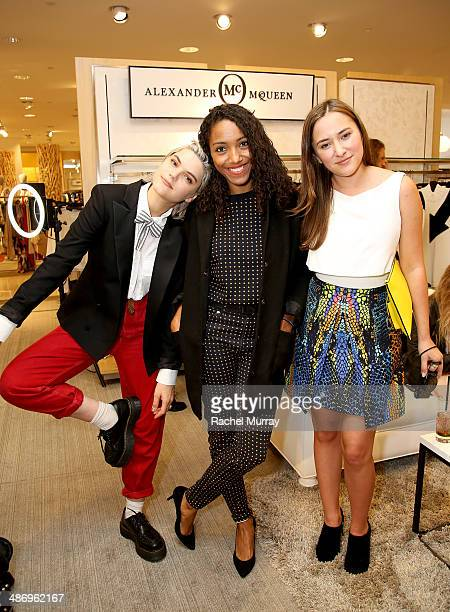 SoKo Remi Nicole and Zelda Williams attend Neiman Marcus and Teen Vogue celebrate McQ's Spring Collection hosted by Zelda Williams at Neiman Marcus...