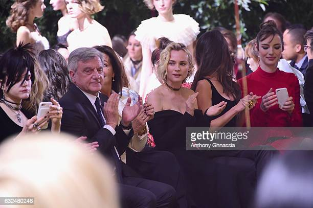 SoKo Sidney Toledano Diane Kruger Charlotte Le Bon and Louise Bourgoin attend the Christian Dior Haute Couture Spring Summer 2017 show as part of...