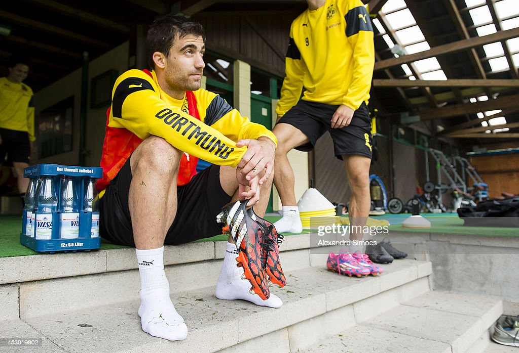 Sokratis Papastathopoulos (BVB) of Borussia Dortmund on August 1, 2014 in Bad Ragaz, Switzerland.