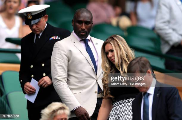 Sol and Fiona Campbell in the royal box on centre court on day two of the Wimbledon Championships at The All England Lawn Tennis and Croquet Club...