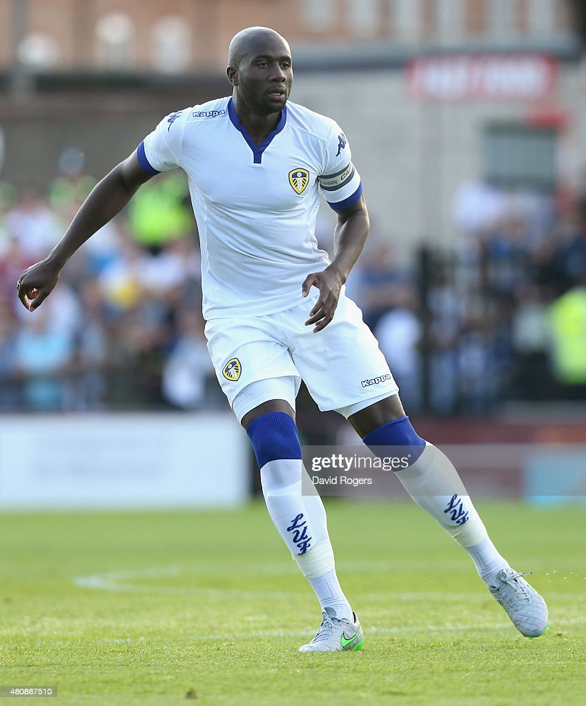 Sol Bamba of Leeds United looks on during the pre season friendly match between York City and Leeds United at Bootham Crescent on July 15 2015 in...