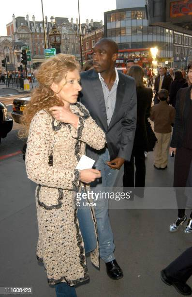 Sol Campbell and Kelly Hoppen during 'Billy Elliot The Musical' GAP Gala Night at Victoria Palace Theatre in London Great Britain