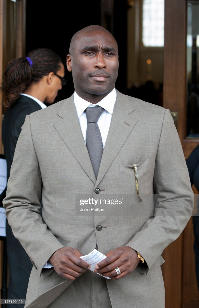 Sol Campbell arrives at a memorial service for Stephen Lawrence at St Martin-in-the-Fields Church on April 22, 2013 in London, England. Stephen Lawrence, a black A-level student was stabbed to death at a bus stop twenty years ago by a gang of white youths in a racially motivated attack in Eltham, south-east London, on April 22, 1993. Two men, Gary Dobson and David Norris were found guilty of his murder in January 2012.