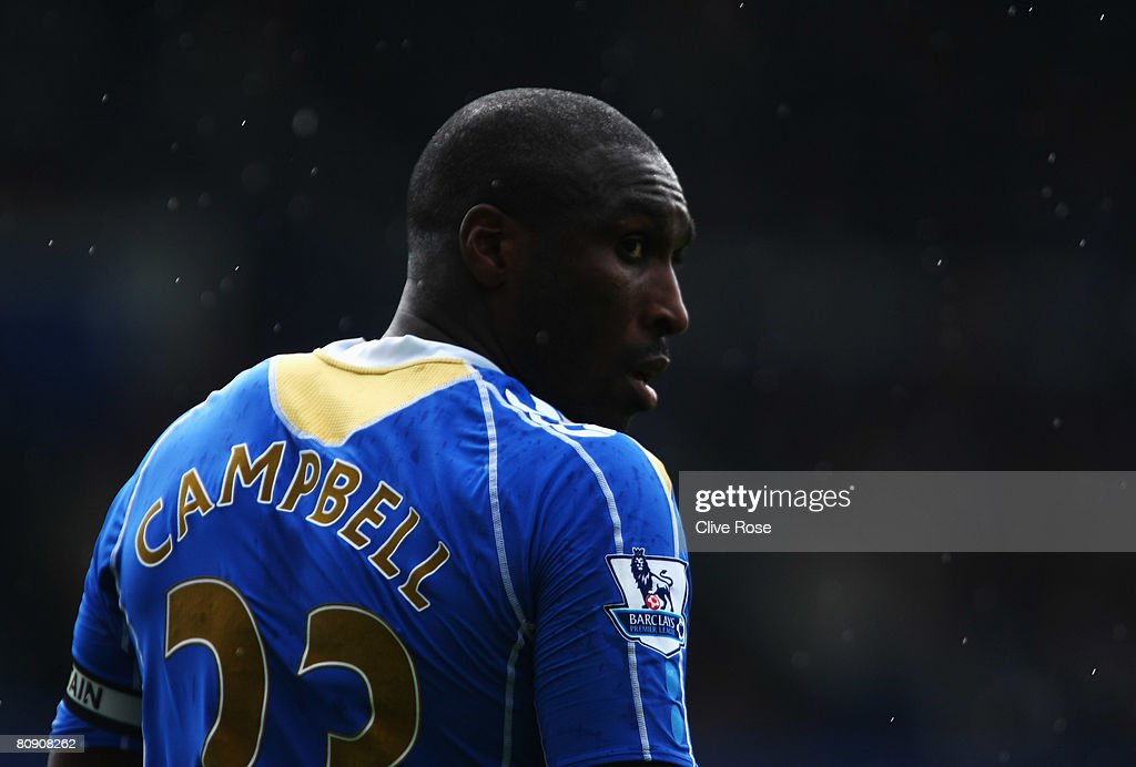 Sol Campbell of Portsmouth during the Barclays Premier League match between Portsmouth and Blackburn Rovers at Fratton Park on April 27 2008 in...