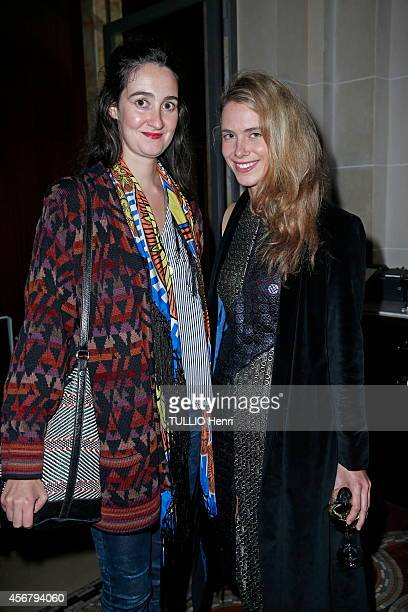 Sol De Medina d'Orleans Bragance and Marie Anunciata de Liechtenstein attend a cocktail party organized by Elisabeth Von Turn un Taxis at the Hotel...