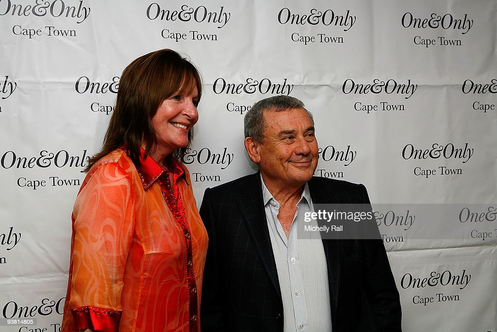 Sol Kerzner and Julia Morley Chairman of the Miss World Organization attend the FIFA World Cup 2010 Miss World Photocall at the One and Only Hotel on...