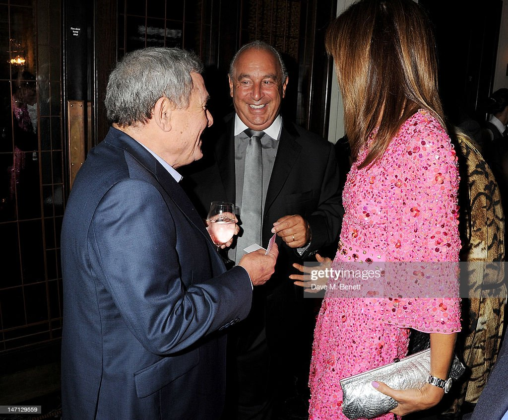 Sol Kerzner Sir Philip Green and Heather Kerzner attend as Richard Caring and Sir Philip Green host Johnny Gold's 80th Birthday at 34 Grosvenor...