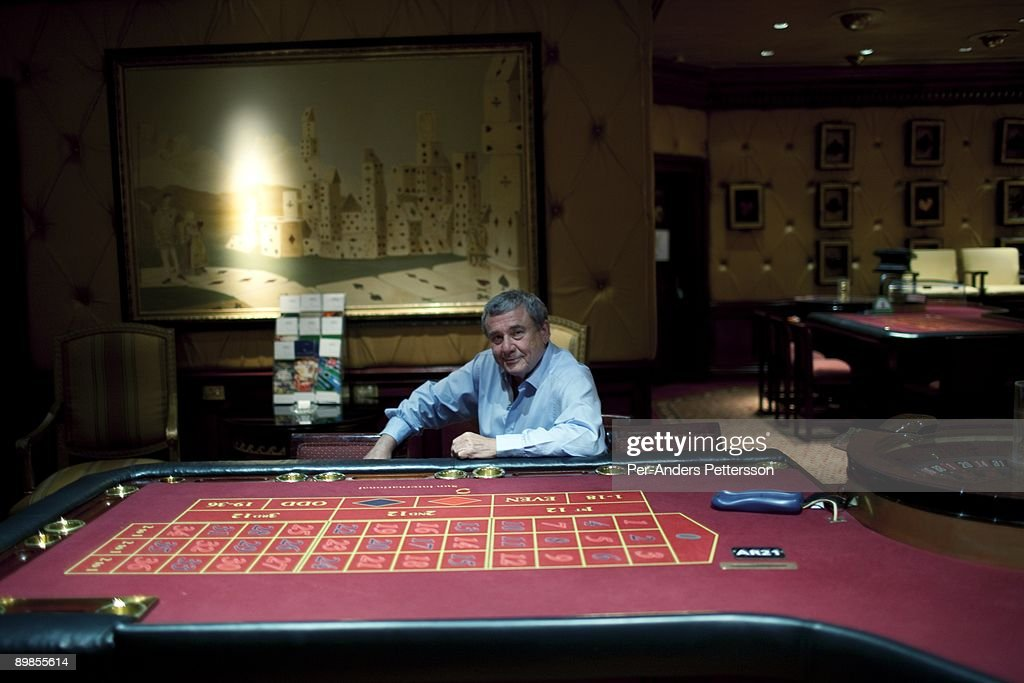 Sol Kerzner the South African hotel magnate posed for a picture in the high rollers casino on a tour around the Palace Hotel on March 31 2009 in Sun...