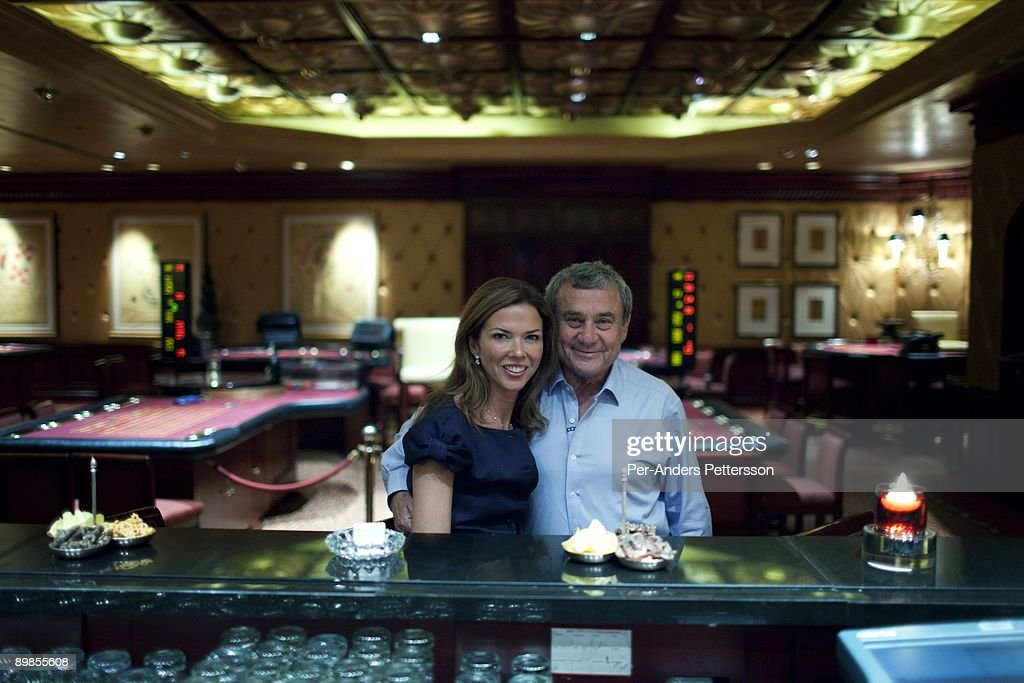 Sol Kerzner the South African hotel magnate posed for a picture with his wife Heather Kerzner in the high rollers casino on a tour around the Palace...