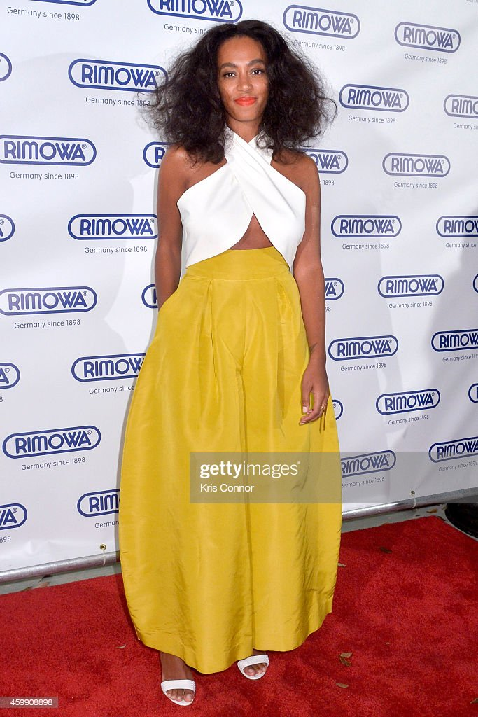 Solanga Knowles attends Rimowa store opening on December 3, 2014 in Miami, Florida.