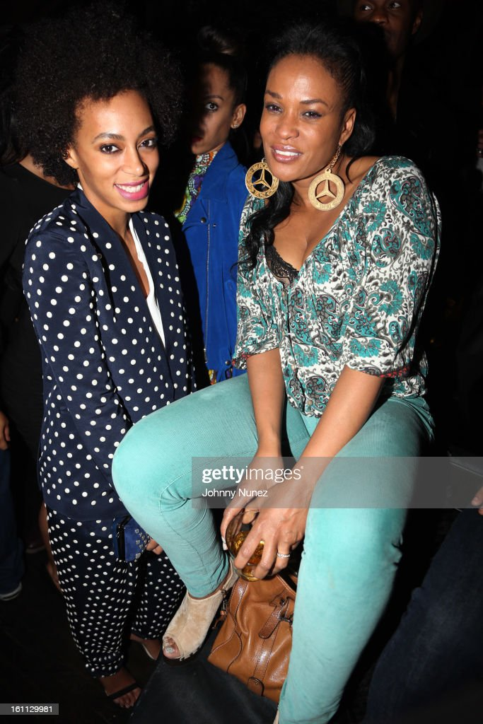 Solange and Beverly Bond attend the after party for 'An Evening Celebrating Nas,' presented by Hennessy VS at Hyde Lounge on February 8, 2013, in West Hollywood, California.
