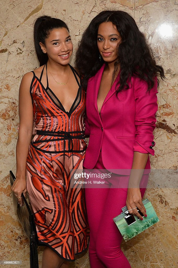 Solange (R) and Hannah Bronfman attend the Gucci beauty launch event hosted by Frida Giannini on June 4, 2014 in New York City.