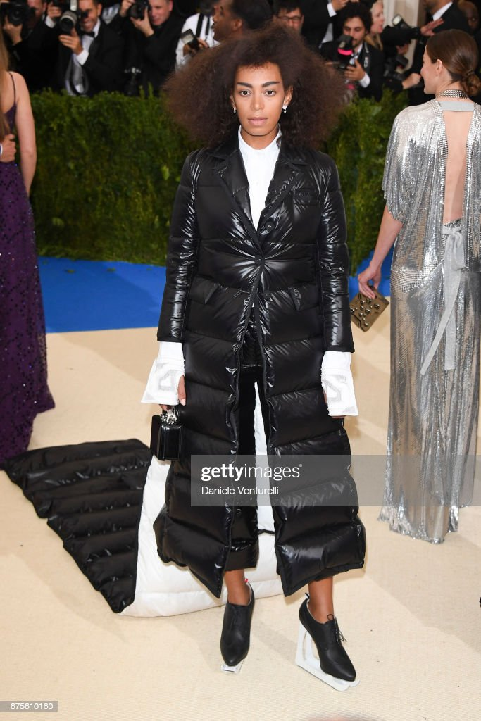 Solange attends 'Rei Kawakubo/Comme des Garcons: Art Of The In-Between' Costume Institute Gala - Arrivals at Metropolitan Museum of Art on May 1, 2017 in New York City.