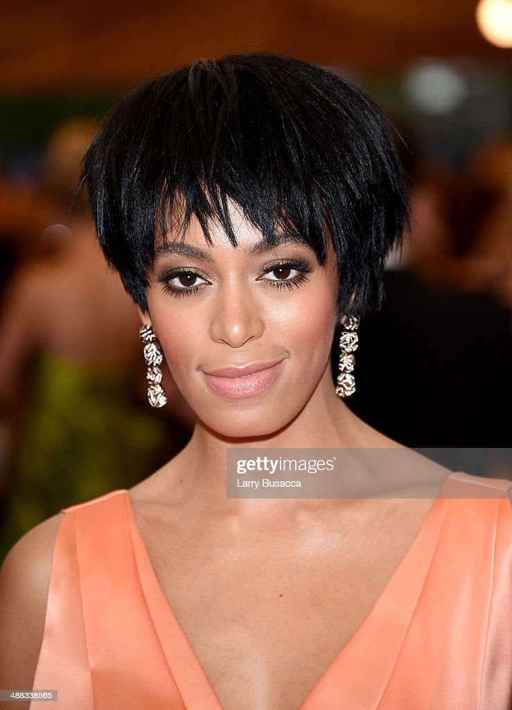 Solange attends the 'Charles James Beyond Fashion' Costume Institute Gala at the Metropolitan Museum of Art on May 5 2014 in New York City