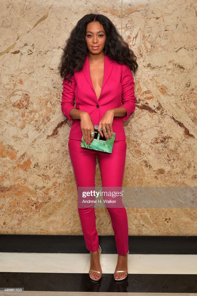 Solange attends the Gucci beauty launch event hosted by Frida Giannini on June 4, 2014 in New York City.