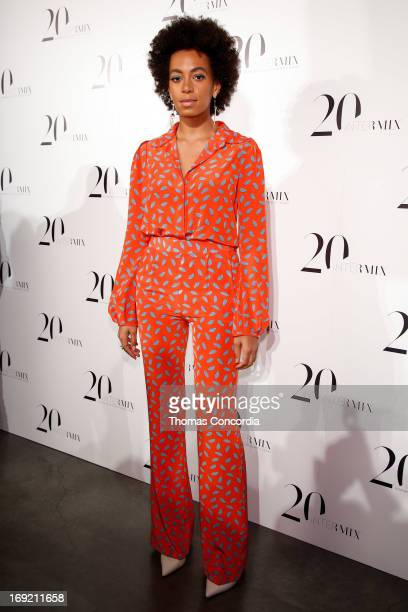 Solange attends the Intermix 20th Anniversary Celebration at The New Museum on May 21 2013 in New York City