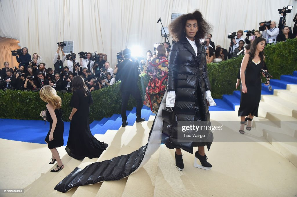 Solange attends the 'Rei Kawakubo/Comme des Garcons: Art Of The In-Between' Costume Institute Gala at Metropolitan Museum of Art on May 1, 2017 in New York City.