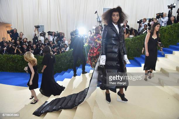 Solange attends the 'Rei Kawakubo/Comme des Garcons Art Of The InBetween' Costume Institute Gala at Metropolitan Museum of Art on May 1 2017 in New...