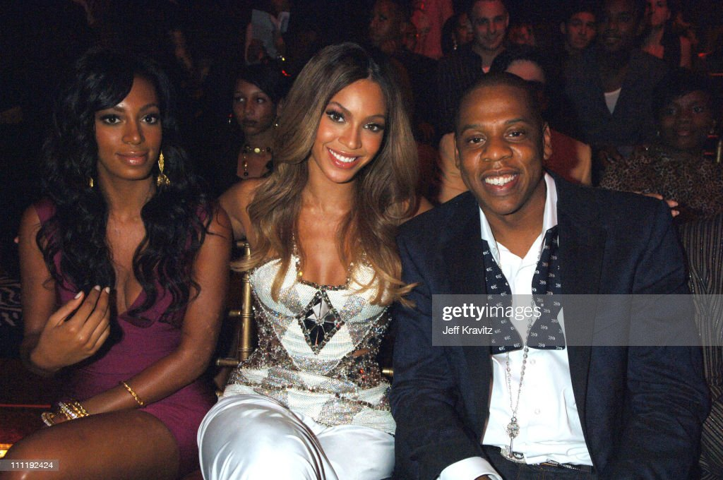 Solange, Beyonce and Jay Z during 2006 MTV Video Music Awards - Audience at Radio City Music Hall in New York City, New York, United States.