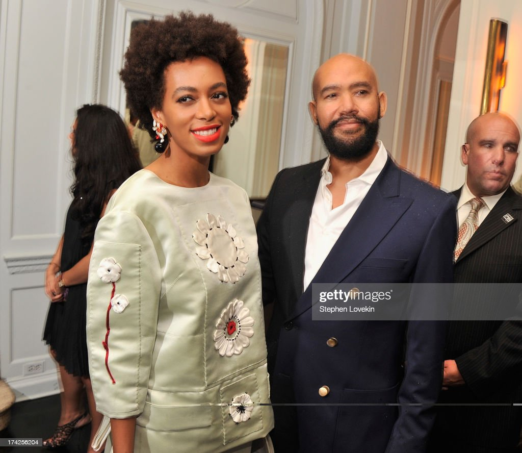 <a gi-track='captionPersonalityLinkClicked' href=/galleries/search?phrase=Solange+Knowles&family=editorial&specificpeople=221489 ng-click='$event.stopPropagation()'>Solange Knowles</a> and <a gi-track='captionPersonalityLinkClicked' href=/galleries/search?phrase=Alan+Ferguson+-+Director&family=editorial&specificpeople=13731812 ng-click='$event.stopPropagation()'>Alan Ferguson</a> attend the 'Blue Jasmine' New York Premiere after party at Harlow on July 22, 2013 in New York City.