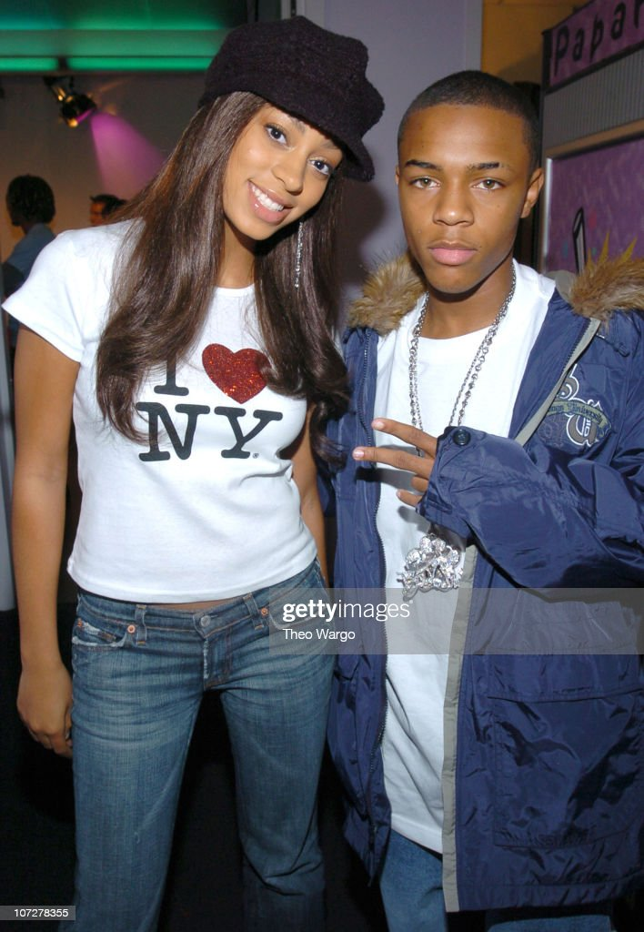 Solange Knowles and Bow Wow during Solange Knowles, Bow Wow and Yellow Card Visit MTV's 'TRL' High School Week - April 7, 2004 at MTV Studios, Times Square in New York City, New York, United States.