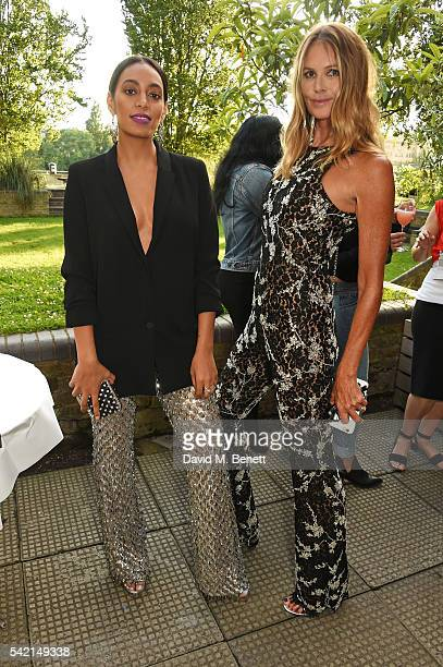 Solange Knowles and Elle Macpherson attend a private dinner hosted by Michael Kors to celebrate the new Regent Street Flagship store opening at The...