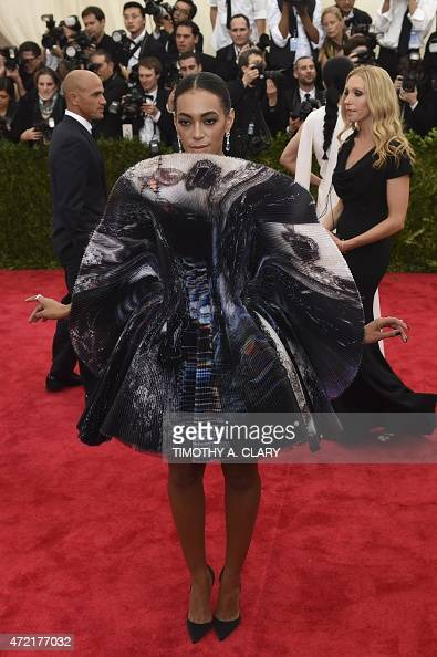 Solange Knowles arrives at the Costume Institute Gala Benefit at The Metropolitan Museum of Art May 5 2015 in New York AFP PHOTO / TIMOTHY A CLARY
