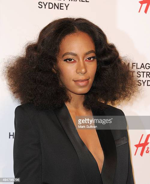 Solange Knowles arrives at the HM Sydney Flagship Store VIP Party on October 29 2015 in Sydney Australia