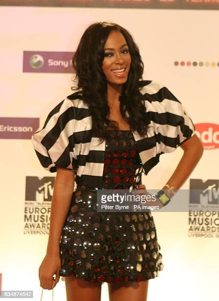 Solange Knowles arrives for the 2008 MTV Europe Music Video Awards at the Echo Arena Liverpool