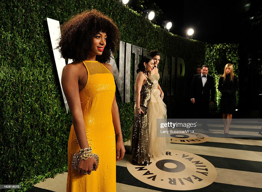 Solange Knowles arrives for the 2013 Vanity Fair Oscar Party hosted by Graydon Carter at Sunset Tower on February 24, 2013 in West Hollywood, California.