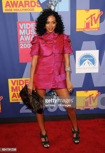 Solange Knowles arrives for the MTV Video Music Awards 2008 at Paramount Studios Hollywood Los Angeles California