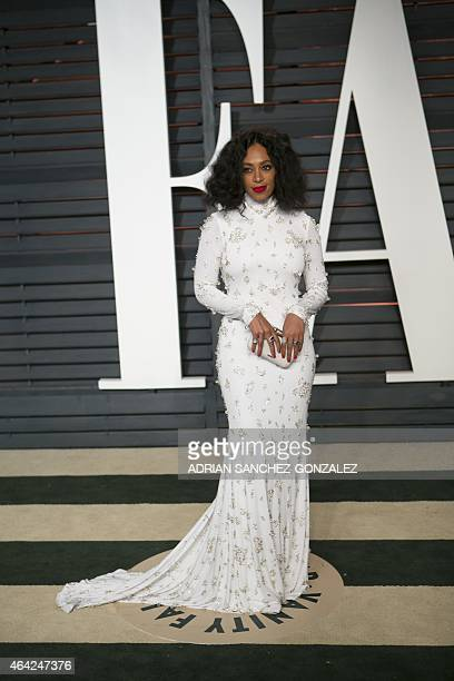 Solange Knowles arrives to the 2015 Vanity Fair Oscar Party February 22 2015 in Beverly Hills California GONZALEZ
