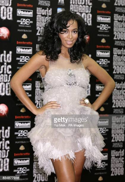Solange Knowles arriving at the 2008 World Music Awards at the Sporting Club Monte Carlo