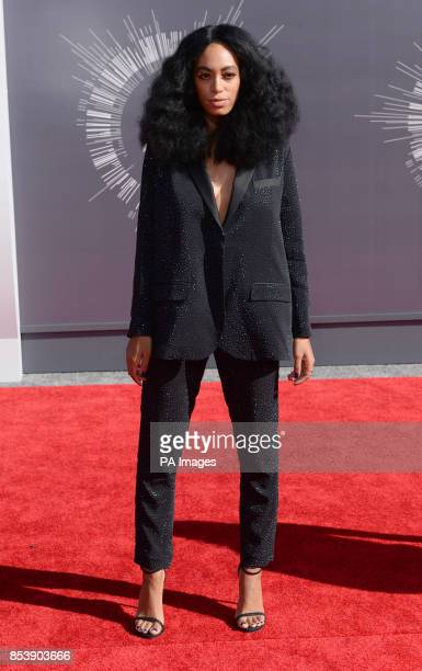 Solange Knowles arriving at the MTV Video Music Awards 2014 at The Forum in Inglewood Los Angeles