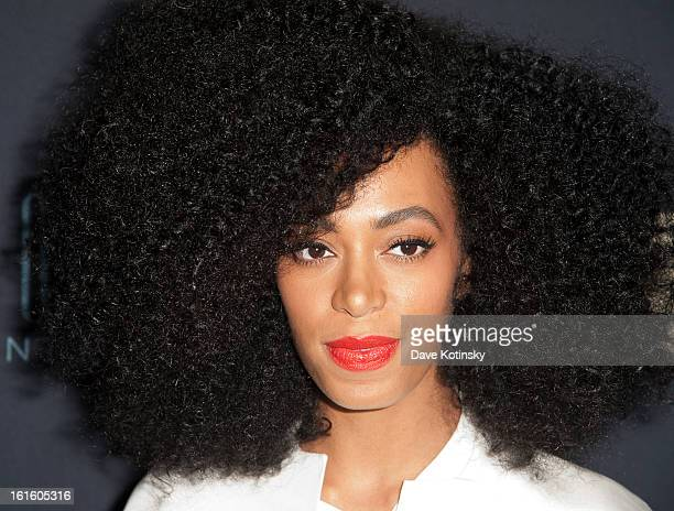 Solange Knowles attends 'Beyonce Life Is But A Dream' New York Premiere at Ziegfeld Theater on February 12 2013 in New York City