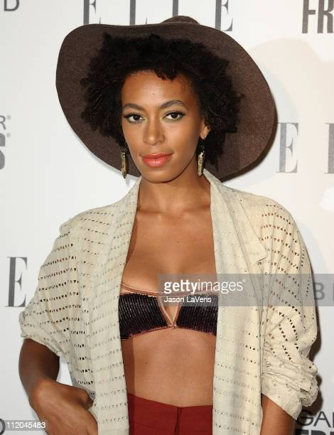 Solange Knowles attends ELLE's 2nd annual Women in Music event at The Music Box @ Fonda on April 11 2011 in Hollywood California