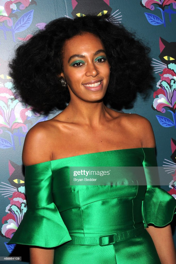 <a gi-track='captionPersonalityLinkClicked' href=/galleries/search?phrase=Solange+Knowles&family=editorial&specificpeople=221489 ng-click='$event.stopPropagation()'>Solange Knowles</a> attends Miu Miu Women's Tales 7th Edition - 'Spark & Light' Screening - Arrivals at Diamond Horseshoe on February 11, 2014 in New York City.