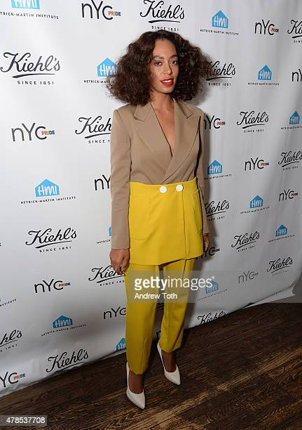 Solange Knowles attends NYC Pride and Kiehl's Since 1851 Celebrate Pride Week 2015 at Kiehl's Since 1851 Flagship Store on June 25 2015 in New York...