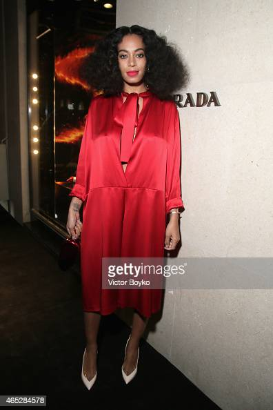 Solange Knowles attends Prada The Iconoclasts Paris 2015 on March 5 2015 in Paris France