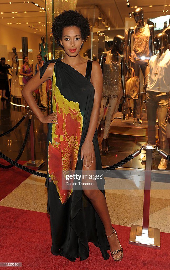 <a gi-track='captionPersonalityLinkClicked' href=/galleries/search?phrase=Solange+Knowles&family=editorial&specificpeople=221489 ng-click='$event.stopPropagation()'>Solange Knowles</a> attends Roberto Cavalli's 'Black Is Never Absolute' photo exhibit in the Roberto Cavalli store at Crystals at CityCenter on April 15, 2011 in Las Vegas, Nevada.Ê