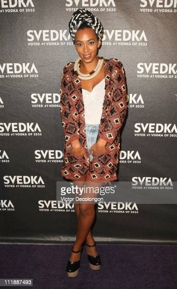 Solange Knowles attends Svedka Vodka's 'Night Of A Billion Reality Stars' Gala on April 7 2011 in Hollywood California