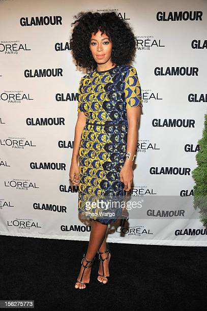 Solange Knowles attends the 22nd annual Glamour Women of the Year Awards at Carnegie Hall on November 12 2012 in New York City