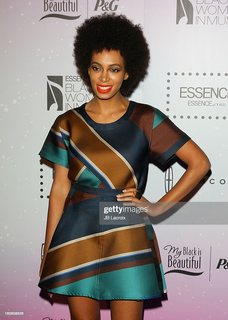 Solange Knowles attends the 4th Annual Essence Black Women In Music Event at Greystone Manor Supperclub on February 6, 2013 in West Hollywood, California.