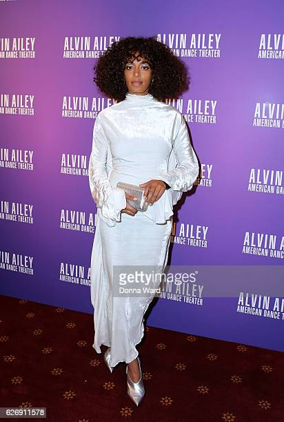 Solange Knowles attends the 'Ailey and Jazz' 2016 Opening Night Gala at New York City Center on November 30 2016 in New York City