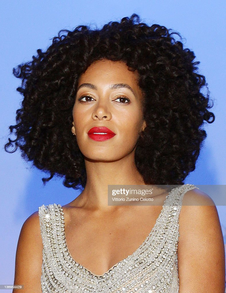 Solange Knowles attends the Alberta Ferretti Special Event during the Milan Fashion Week Autumn / Winter 2012 on January 13 2012 in Milan Italy