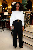 Solange Knowles attends the Balmain show as part of the Paris Fashion Week Womenswear Fall/Winter 2015/2016 on March 5 2015 in Paris France