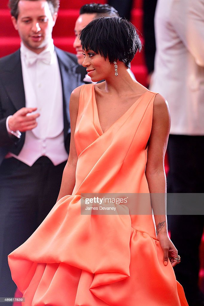 Solange Knowles attends the 'Charles James: Beyond Fashion' Costume Institute Gala at the Metropolitan Museum of Art on May 5, 2014 in New York City.
