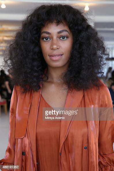 Solange Knowles attends the Eckhaus Latta fashion show during Spring 2016 New York Fashion Week on September 14 2015 in New York City