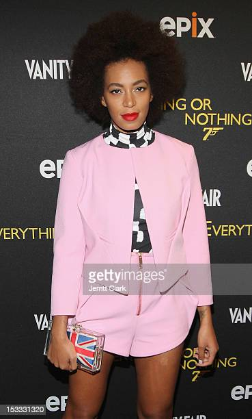 Solange Knowles attends the 'Everything Or Nothing The Untold Story Of 007' premiere at the Museum of Modern Art on October 3 2012 in New York City
